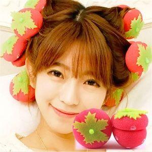 Strawberry Foam Curlers